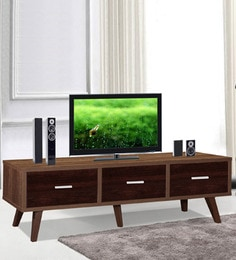 Mokuzai Entertainment Unit With Three Drawers In Oak Finish