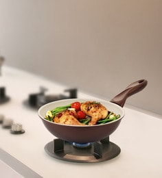 Mondo Ceramic Coated Non Stick 3000 ML Stir Fry Pan