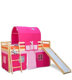 Montana Loft Bed In Pink Colour