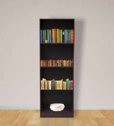 Morie Four Shelf File Cabinet in Light Cappuccino Finish by Mintwud at pepperfry