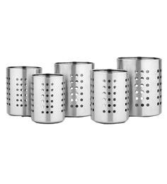 Mosaic Stainless Steel Cutlery Holders - Set Of 5
