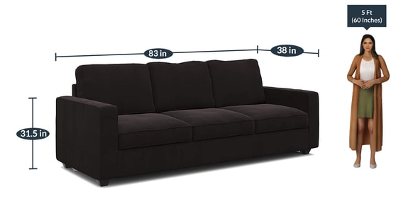 Fine Montreal 3 Seater Sectional Sofa In Dark Brown Colour By Forzza Ibusinesslaw Wood Chair Design Ideas Ibusinesslaworg