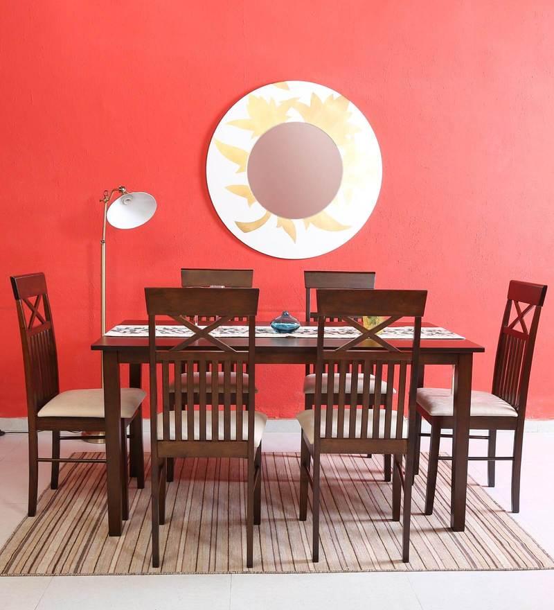Momoko Six Seater Dining Set in Walnut Finish by Mintwud