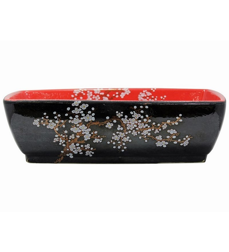 MonTero Red & Black Ceramic Basin