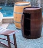 Mombo Wine Barrel Shaped Bar Table in Natural Finish by Inliving
