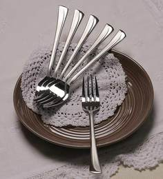 Mullich Kayla Stainless Steel Fork - Set Of 6 - 1327544