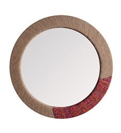 Multi Color Jute 23 X X 23 Inch Roped Looking Glass Mirror