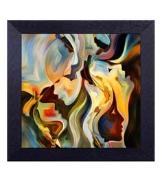 Multicolour Canvas Cloth Impressions Of Women Digital Art Print