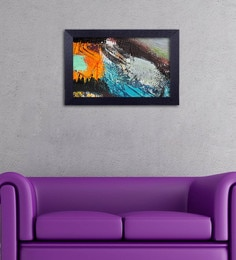 Multicolour Canvas Cloth Modern Art Digital Art Print