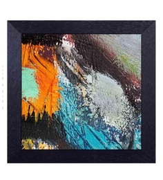 Multicolour Canvas Cloth Modern Art Patches Digital Art Print