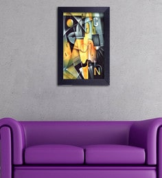 Multicolour Canvas Cloth Modern Art Trapezium Digital Art Print