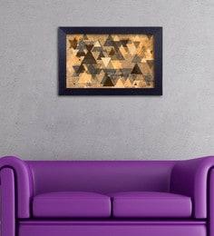 Multicolour Canvas Cloth Modern Art Triangles Digital Art Print