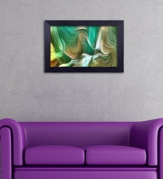 Multicolour Canvas Cloth Modern Art Wave Pattern Digital Art Print