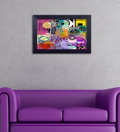 Multicolour Canvas Cloth Modern Art With Circular Pattern Digital Art Print