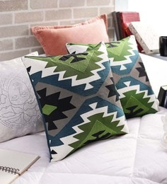 Multicolour Cotton 18x18 Inch Cushion Covers - Set Of 2