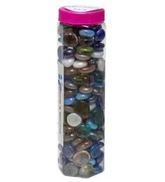Multicolour Glass Decorative Pebbles