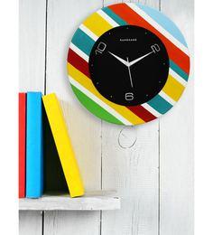 Multicolour MDF 12 X 12 Inch Wall Clock