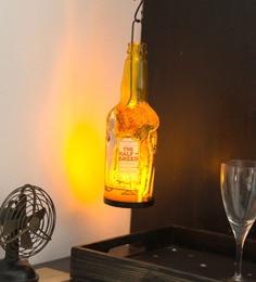 Multicolour Metal & Glass Bottle Tim Mc Coy Tea Light Holder