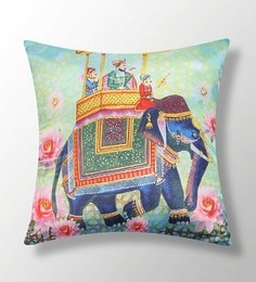 Multicolour Polyester 16x16 Inch Cushion Cover - 1622865