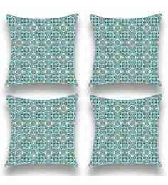 Multicolour Satin 16x16 Inch Cushion Covers - Set Of 4