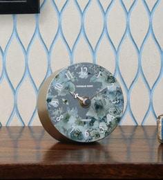 ca781d6a7f0 Mustard Plastic Thomas Kent Floral Dial Table Clock