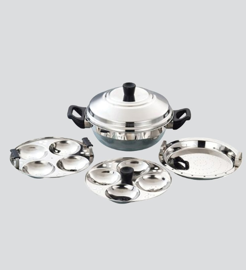 06f965456ff Buy Stainless Steel Idli Cooker 4 Plates (3 5 Plates ) 1 Steamer ...