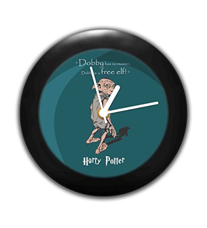 Multicolour ABS Plastic 6 x 1.9 x 6 Inch Official Harry Potter Dobby Desk Clock by MC SID RAZZ