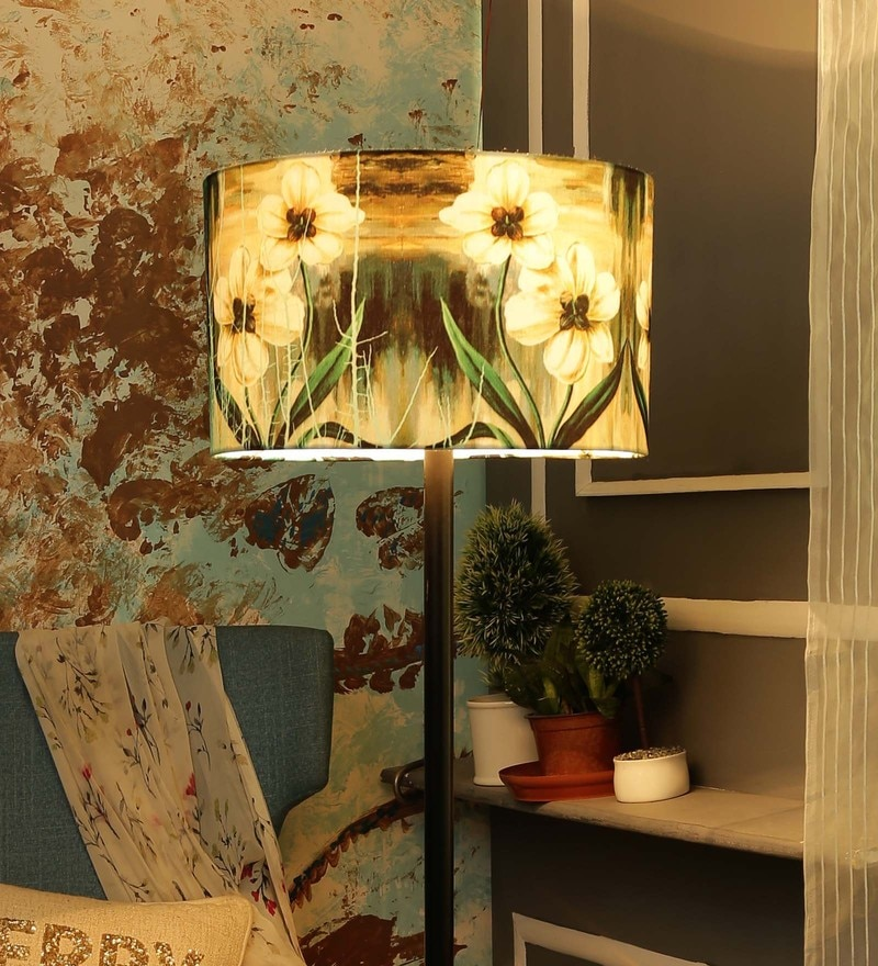 Multicolour Canvas Lamp Shade by Leaf Designs