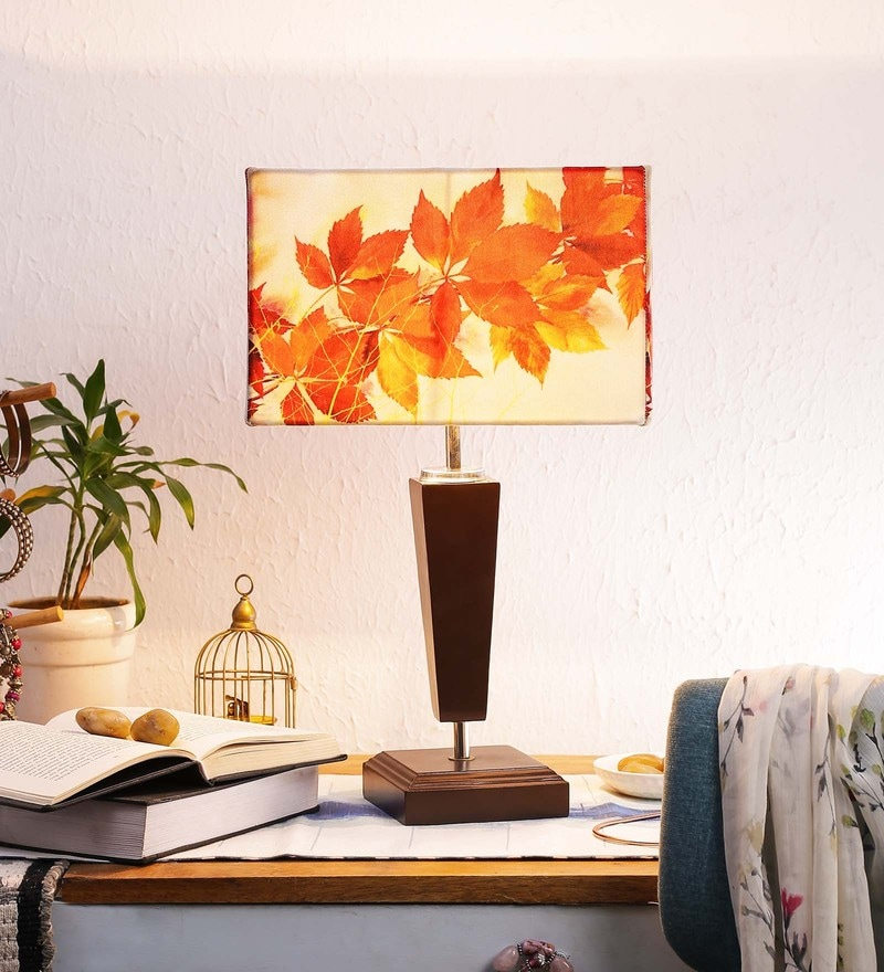 Multicolour Canvas Table Lamp by Leaf Designs