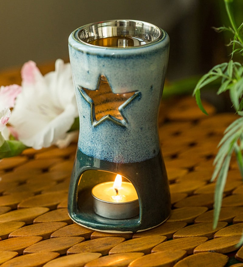 Multicolour Ceramic Studio Pottery Breezy Star Aroma Diffuser by Exclusivelane - Set of 2