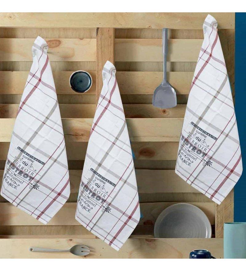 Multicolour Cotton Kitchen Towels - Set of 3 by R Home