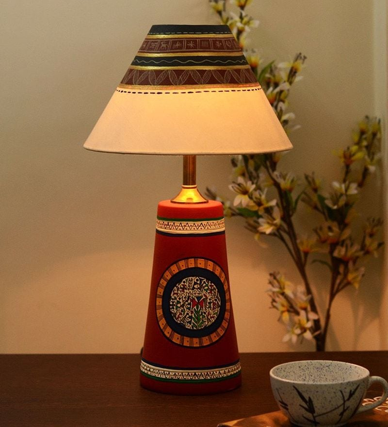 Buy multicolour fabric table lamp by unravel india online indian multicolour fabric table lamp by unravel india mozeypictures Choice Image