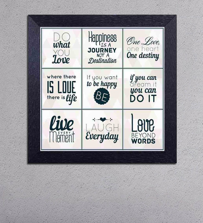 Multicolour Matt Paper Meaning of Life with Different Messages Poster by Decor Design