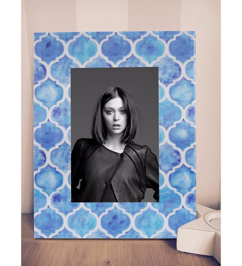 Multicolour MDF & Resin 6.5 x 1 x 8.5 Inch Handcrafted Morracan Saga Photoframe by Rang Rage