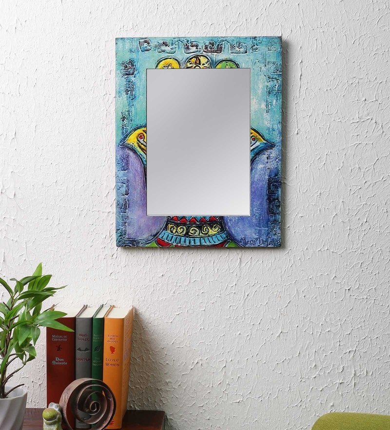 Multicolour MDF Inika Mirror Frame by Reflete