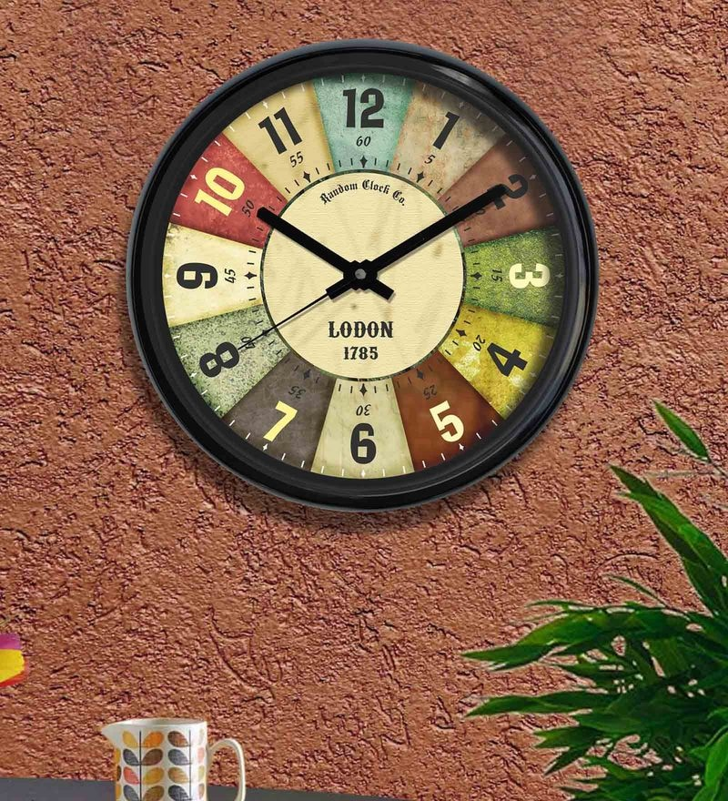 Multicolour Plastic 12 x 2 x 12 Inch Celebration Wall Clock by Random