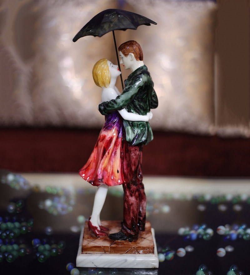 Multicolour Polyresin Magic Cute Romantic Couple Showpiece By Forever