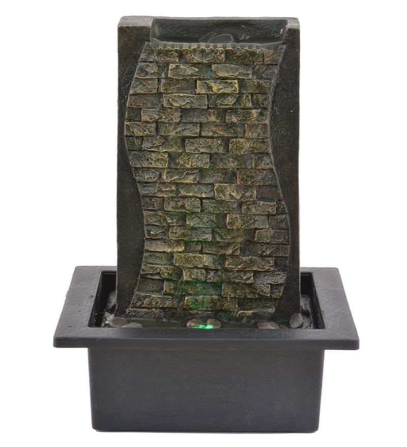 Multicolour Polystone Water Fountain by The Exclusive Deco