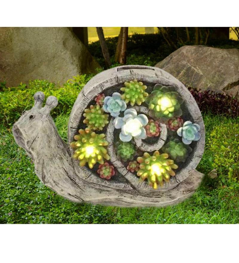 Multicolour Resin Snail Solar Light by Wonderland