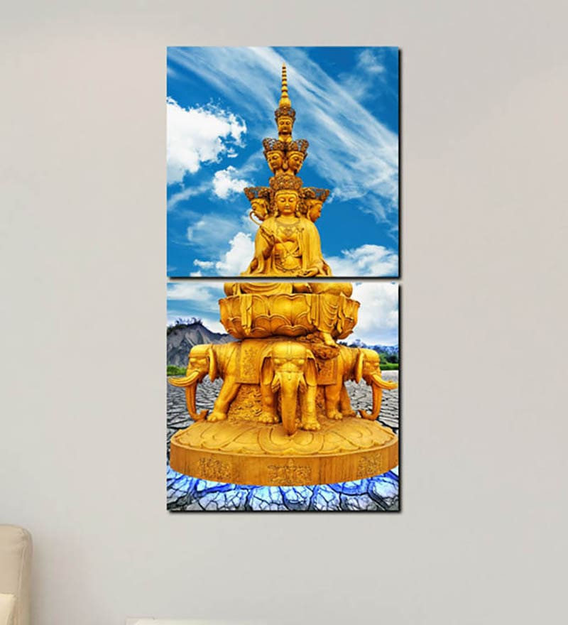 Multiple Frames Buddha Art Panels like Painting - 2 Frames by 999Store