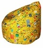 Muddha XL Bean Bag with Beans in Yellow Colour by Sattva