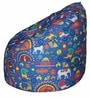 Muddha XL Bean Bag with Beans in Blue Colour by Sattva