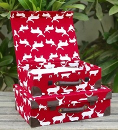 My Gift Booth Deer Print Canvas Storage Boxes - Set Of 2