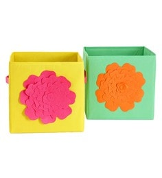 My Gift Booth Flower Non-Woven Storage Bins - Set Of 2 - 1627367