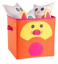 My Gift Booth Orange Kitty Felt 15L Orange Felt Storage Box