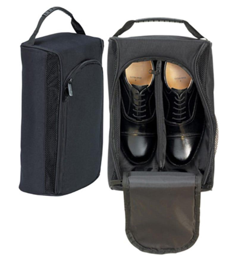 My Gift Booth Nylon Black Travel Shoe Bag
