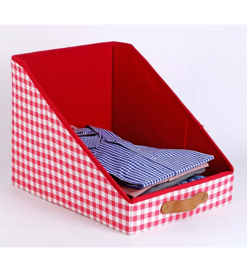 Cotton & Mdf Red Clothing Storage Bin by My Gift Booth