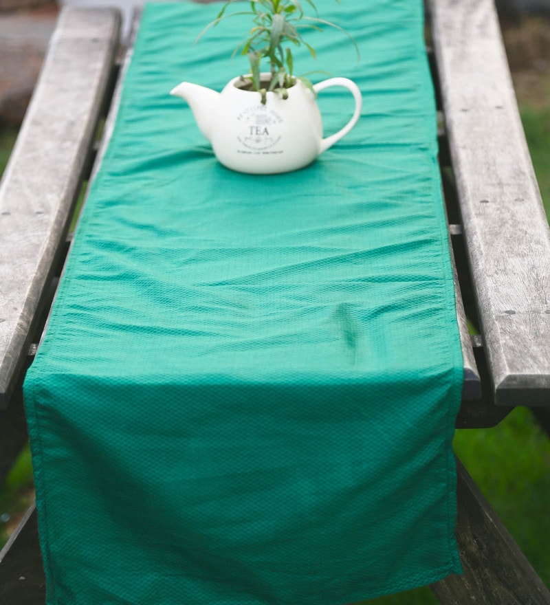 My Gift Booth Green Cotton Runner