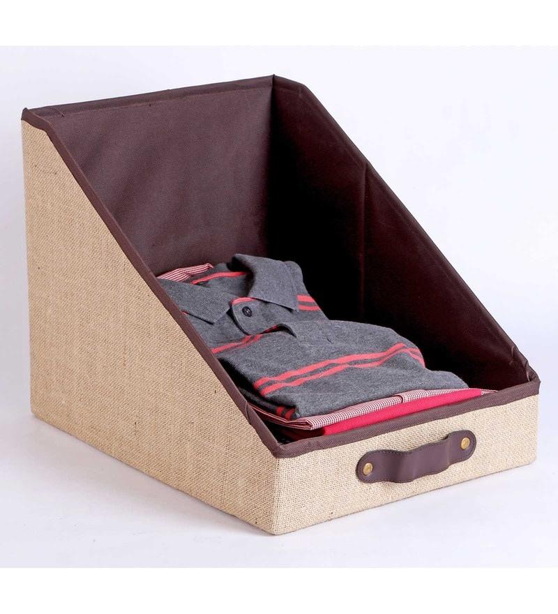 Jute & Mdf Beige Clothing Storage Bin by My Gift Booth