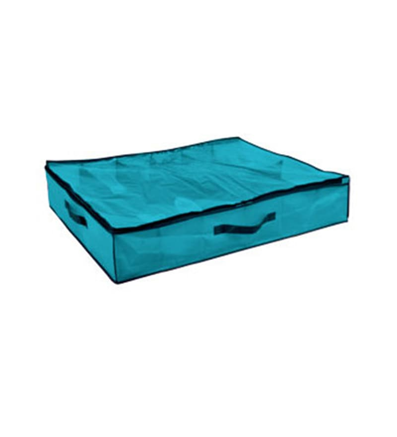 My Gift Booth Non-Woven Sky Blue Under Bed 10 Slots Shoe Organiser